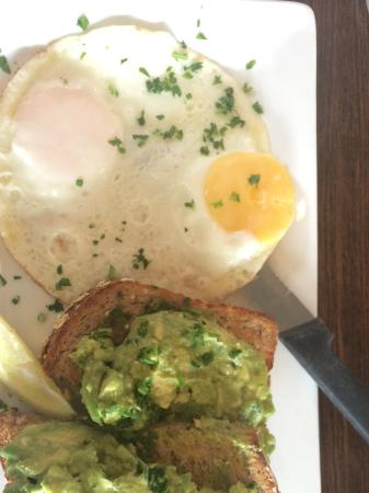 First Watch: Avo on toast two eggs on the side