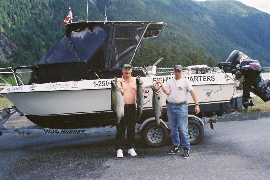 Port McNeill, Canada: At the end of the day Jim took home (to Vancouver) #80 of Salmon Filets, I took home #32 .