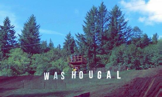 Washougal sign on top of horsepower hill