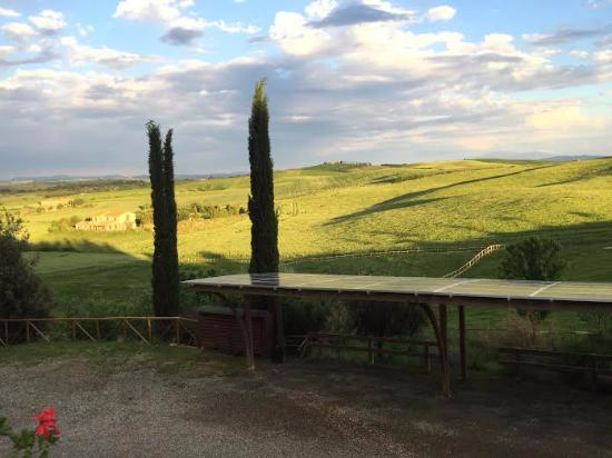 Il Canto del Sole : View of countryside from outside deck/terrace