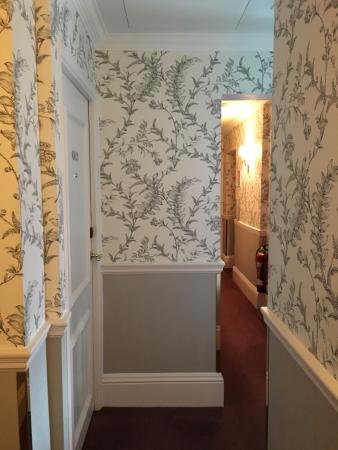 Nice wallpaper in hallway picture of the stafford london for Hallway wallpaper