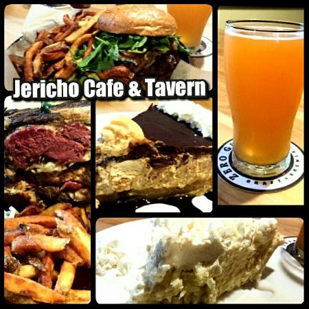 Excellent dinner at Jericho Cafe & Tavern. We recommend the Betty Ray burger & smoked Rueben san
