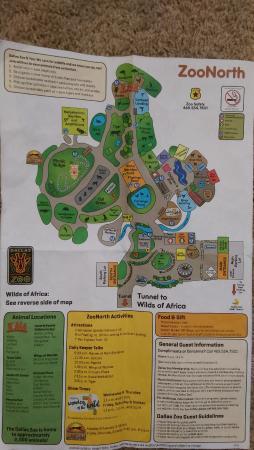 Map front - Picture of Dallas Zoo, Dallas - TripAdvisor on