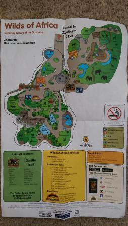 Map back Picture of Dallas Zoo Dallas TripAdvisor