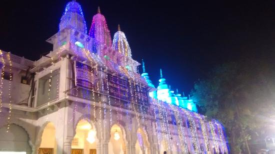 Iskcon Temple Lighting At Night Picture Of Sri Radha