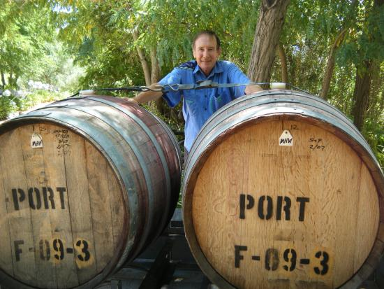 Seize the Day Wines: Pete with our Fortified Shiraz