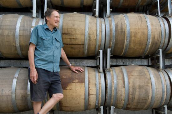 Seize the Day Wines: Pete and his Shiraz barrels!