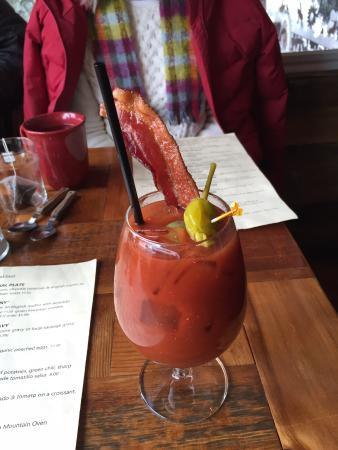 The Sunflower Deli: Bloody Mary with bacon!