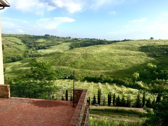 Montespertoli, Włochy: view