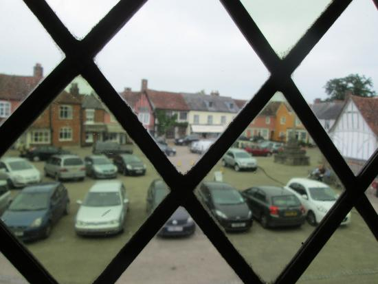 Lavenham, UK: View out of one of the upstairs windows