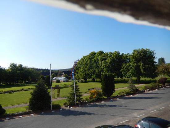 Nethybridge Hotel: overlooking gardens from room window