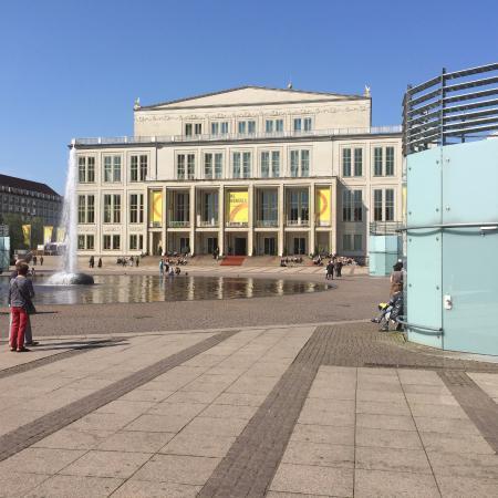 Leipzig Opera House With Das Rheingold Banners Picture Of Opernhaus Leipzig Tripadvisor