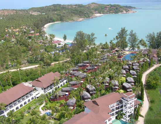 Imperial Boat House Beach Resort: aerial view
