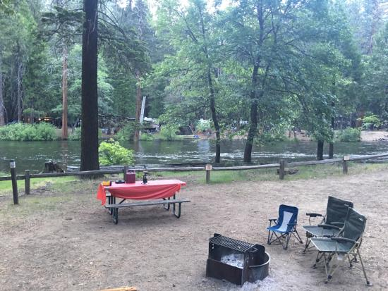 Lower Pines Campground: Our campsite-awesome!