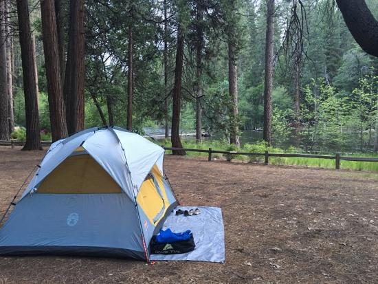 Lower Pines Campground: our site