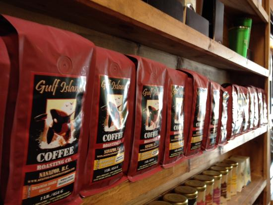 In the Beantime Cafe: Gulf Islands Roasting Co Coffee