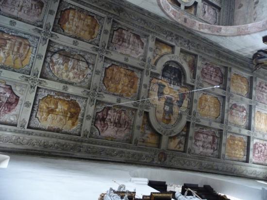 Holz Kassettendecke Im Nebenschiff Picture Of St Emmeram Church