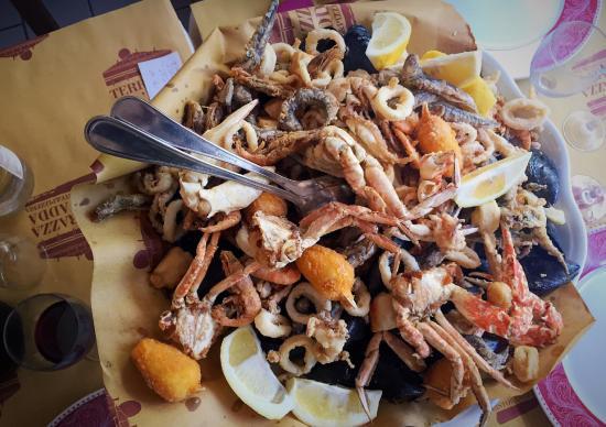 fritto del capitan uncino - Foto di La Terrazza sull\'Adda, Trezzo ...