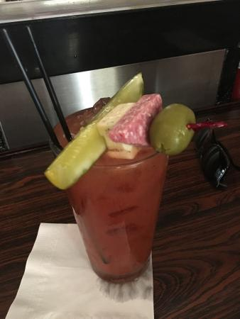 ‪‪Saugatuck‬, ميتشجان: Bloody Mary with a snack on top!‬