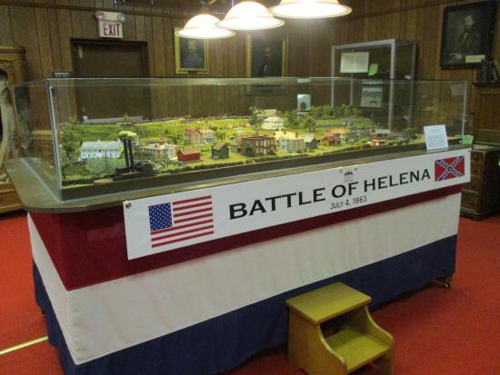 Helena Museum of Phillips County: Battle of Helena model