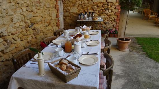 L'Ancienne Boulangerie : une fort jolie table pour le petit déjeuner