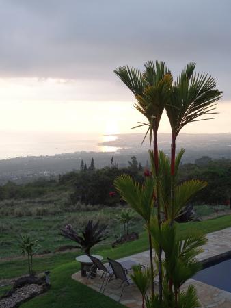 Holualoa, Hawái: vue de l'hôtel