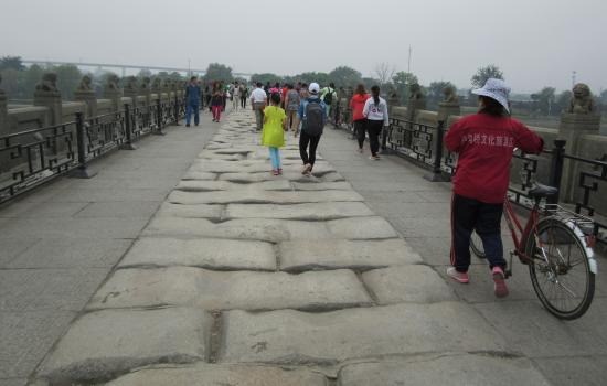 Wanping Ancient City : Original ancient elements of Marco Polo Bridge are still visible. Every stone lion is different.