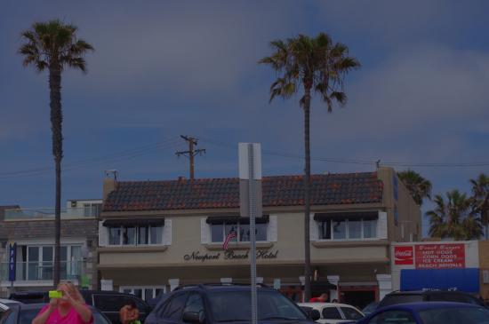 Newport Beach Hotel: photo taken from our spot on the beach