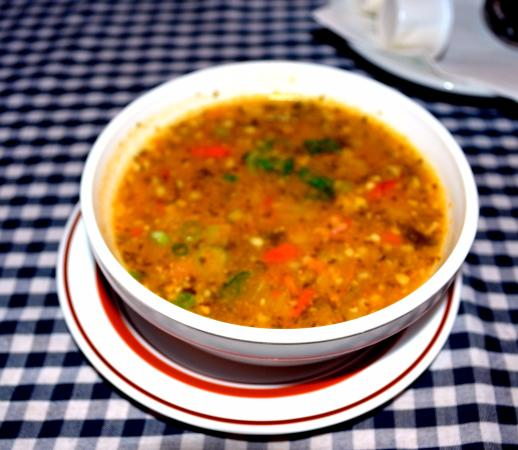 European Cafe & Schnitzel House: veal and barley soup was delicious!