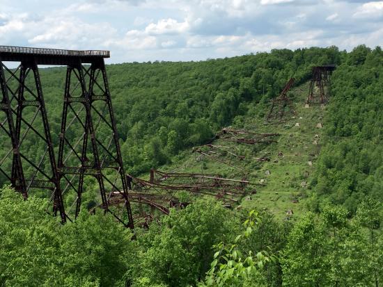 Mount Jewett, Pennsylvanie : Kinzua Bridge Sky Walk and Collapsed Viaduct