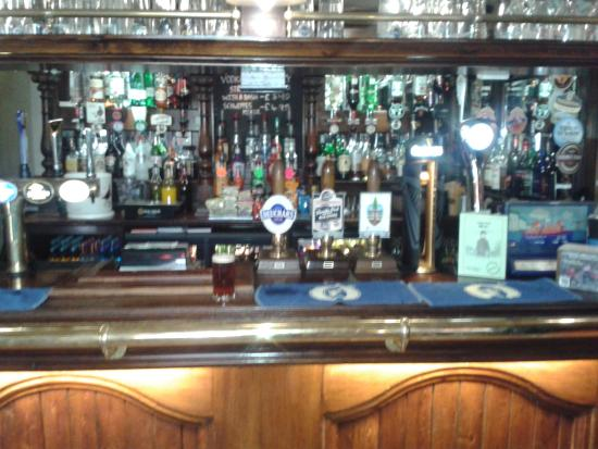 The Old John Peel Inn: The bar and real ale selection
