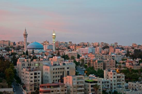 Grand Hyatt Amman: View from our hotel room.