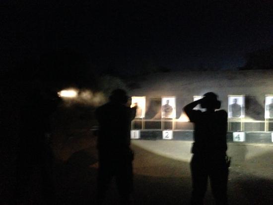 Paulden, Arizona: Night shooting / flashlight techniques.