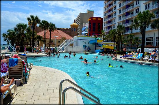 Water Slide And 1 Of The Outside Pools