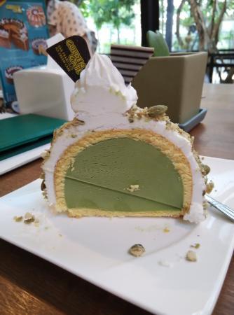green tea ice cream cake picture of true love cafe bangkok