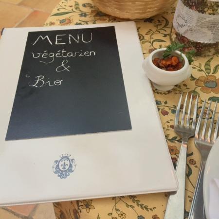 Belgentier, Francja: Le menu végétarien, végétalien, bio