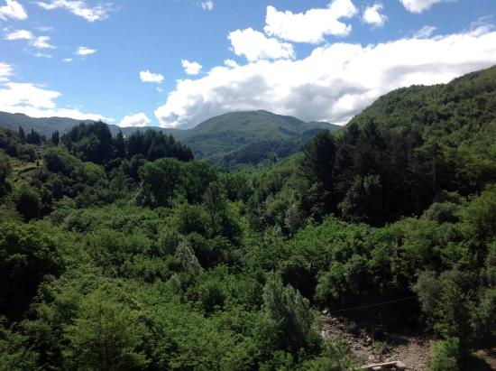 Casola in Lunigiana, Italy: The view from Ca'Luni balony