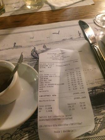 Krk, Kroatia: Totale speso: 200kn ovvero circa 26€ in 2