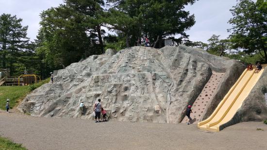 Matsumoto Alpspark: すべり台はオトナのほうがビビります(^^