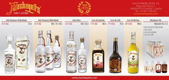 Rute, España: Gama de productos: destilados con tradición, macerados con vocación.