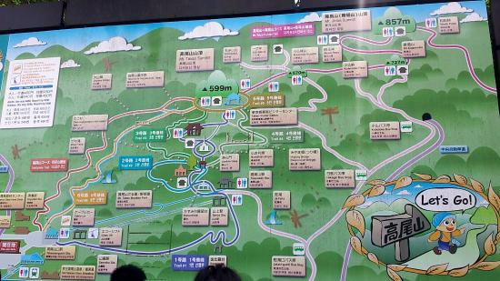 Trail Map With Distance Time Picture Of Mt Takao Hachioji - Hachiōji map