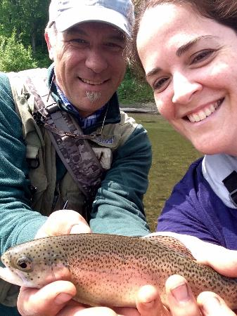 Wilderness Trails and the Vermont Fishing School: My first rainbow of the season... Great day on the river!