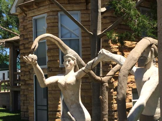 Lucas, KS: Adam and Eve welcome you to the Garden of Eden