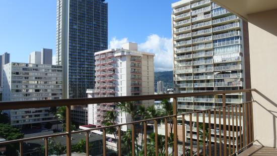 Aqua Waikiki Pearl: View from my 10th floor balcony.