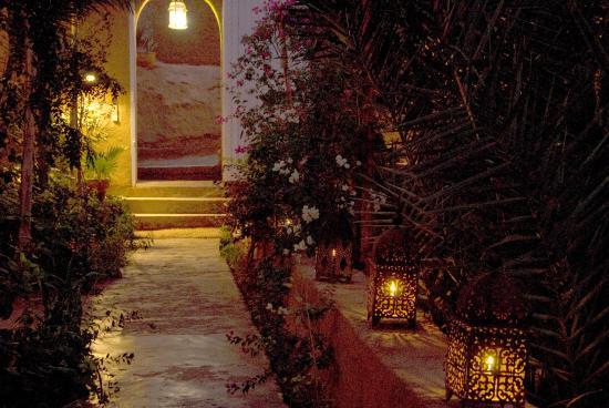 Villa Zagora Ma Villa au Sahara : Le jardin la nuit
