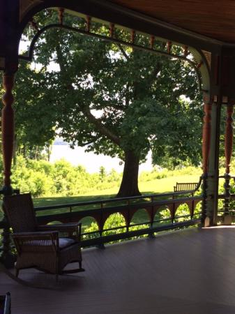 Wilderstein Historic Site: Perfect views of the Hudson from the porch