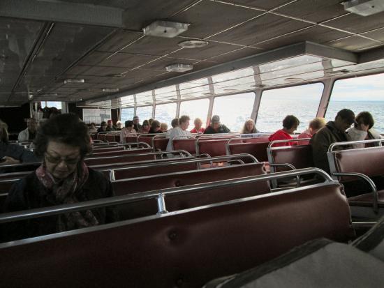 Mackinaw City, MI: Our group on board