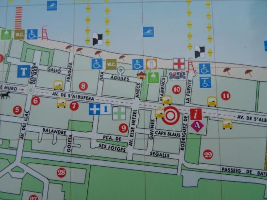 Playa De Muro Karte.Grupotel Alcudia Suite Map Picture Of Grupotel Alcudia