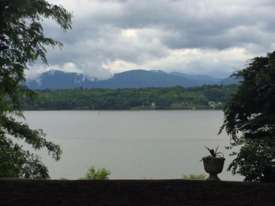 Germantown, NY: View from terrace - Catskill Mts in background