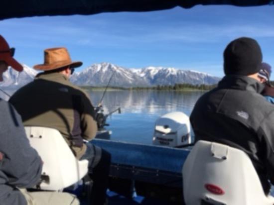 Signal Mountain Lodge: Jackson Lake fishing from Signal Mountain marina